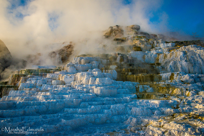 Mammoth Hot Springs on an Early Fall Morning