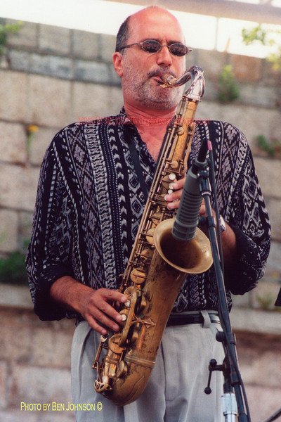 Michael Brecker Photo performing at the 2000 JVC Newport Jazz Festival