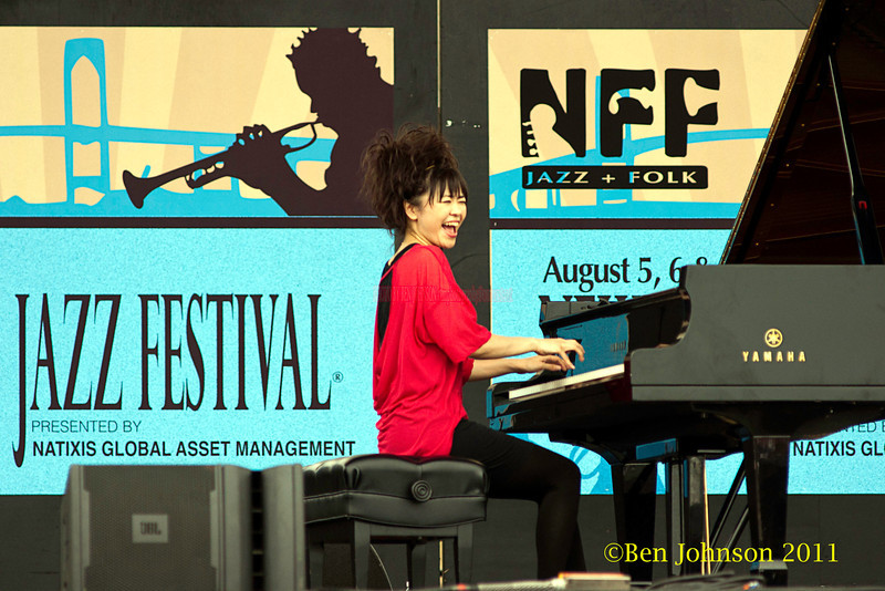 Hiromi performing at  the 2011 Newport Jazz Festival, August 6, 2011