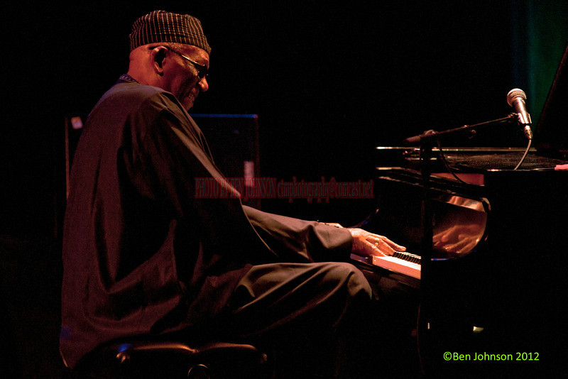 Randy Weston photo - with Randy Weston and the African Rhythms Quintet performing at The Montgomery County Community College on February 4, 2012 Randy Weston-Piano, T.K. Blue - Reeds, Alex Blake-Bass, Neil Clarke- Percussion, and - Robert TrowersTromone