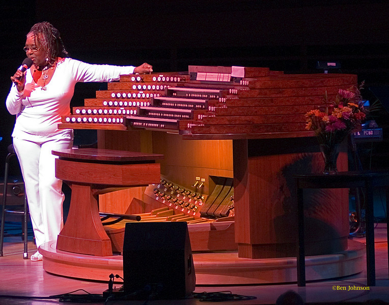 Trudy Pitts Photo - Trudy Pitts in 2005 after taming 'The Beast'; Trudy was the first and only person so far to play Jazz on the magnificent pipe organ in Verizon Hall at The Kimmel Center in Philadelphia, PA