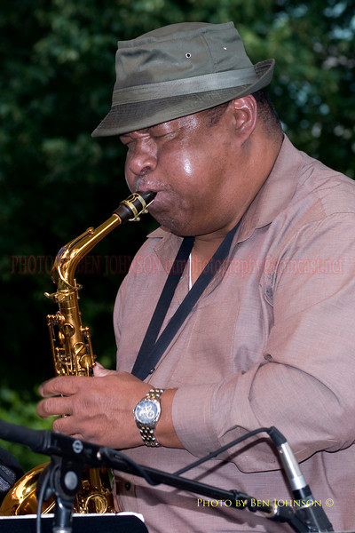 Julian Priesly Photo - Performing with Odean Pope's Saxophone Choir  at The 21st Annual Clifford Brown Jazz Festival at Rodney Square in Wilmington, Delaware, June 15 -21, 2009