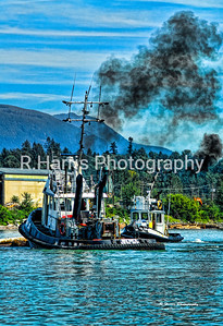 Sea Imp Tugs Working13x19 vertical signed print