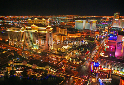 Vegas at Night13x19 signed print