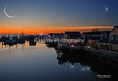 Steveston Habour at Night-13x19 signed print