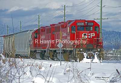 CP Rail Train in the Snow in Matsqui 13x19 signed print