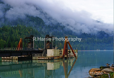 Old Ferry Dock for Wood Fiber mill in Squamish 13x19 signed print
