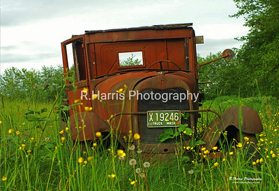 Washington Old Rusted Truck 13x19 signed print