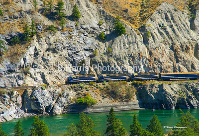 The Rockie Moutaineer Train 13x19 signed print