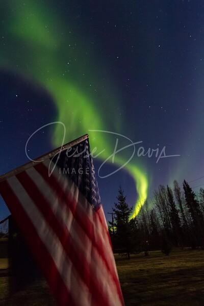 Aurora, NP/AK, 10-13-2016.             #Alaska #NorthPole #NorthernLights #AuroraBorealis #JesseDavisImages