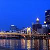 Roberto Clemente Bridge, Pittsburgh PA.  City of Champions