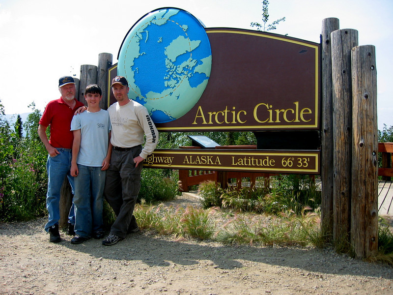 Dalton Highway, Alaska - My Dad, Son, and Me