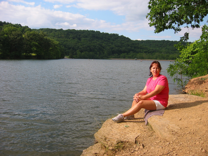 My wife at Raccoon Creek State Park, PA