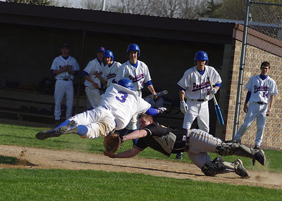 TMB Panther Josh Soupir slides (jumps?) into home plate... and was safe!