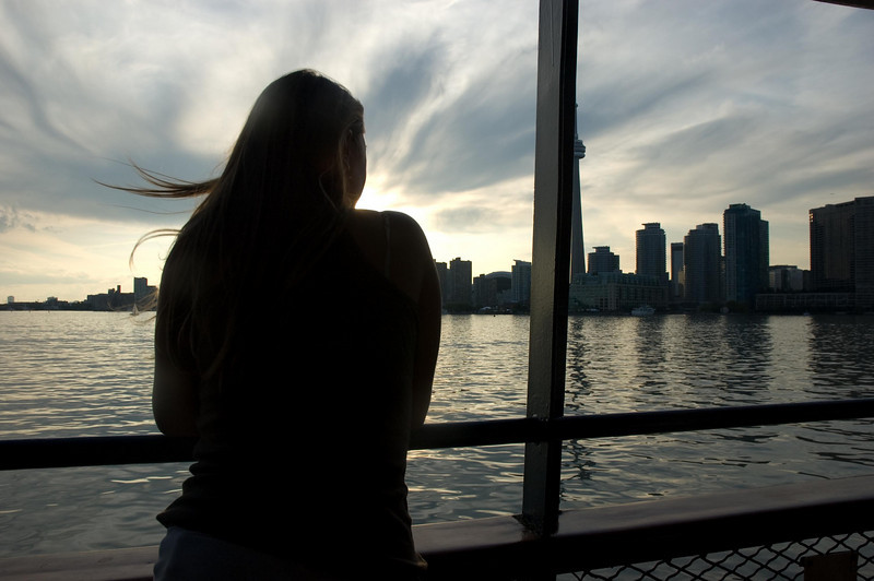 On the trip back from Centre Island to Toronto, Canada