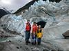 A wider shot of our family on a glacier near Skagway, Alaska