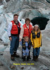 On a Glacier about 10 miles east of Skagway. We got there via helicopter.