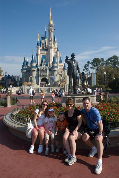 In front of Cinderella's Casltle, Walt Disney World