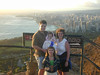 On top of Diamond Head Volcano, overlooking Honolulu, Hawaii in March, 2001