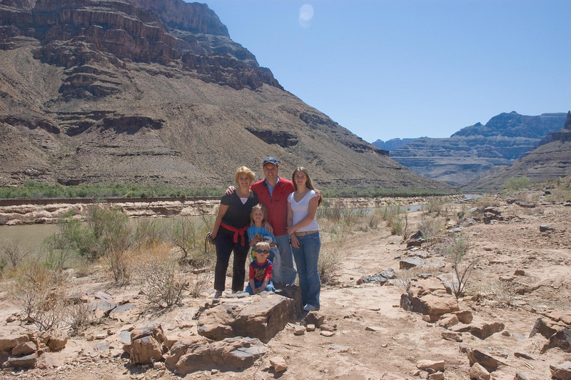 At the Base of the Grand Canyon, next to the Colorado River, April 2007
