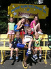 The cousins enjoy Kennywood Park in August 2008