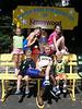 The cousins enjoy Kennywood Park in August 2008