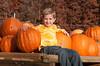 Adam at the Pumpkin Patch, Fall 2009.