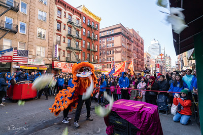 Lion Dance in Chinatown for Lunar New Year 2019 @ Grand Street