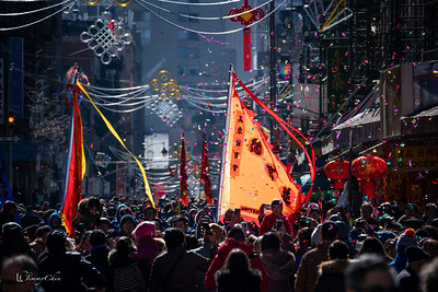 Lion Dance in Chinatown Mott Street for Lunar New Year 2019