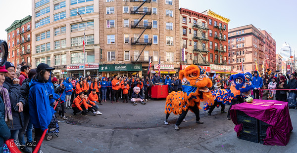 Lion Dance in Chinatown for Lunar New Year 2019 @Grand Street