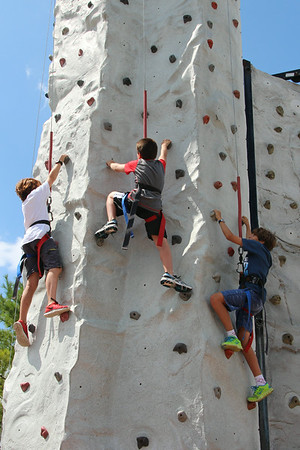 David and buddys on the rock wall...CJ Barrymores
