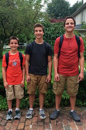 First day of school...David, Daniel and John (Senior year)