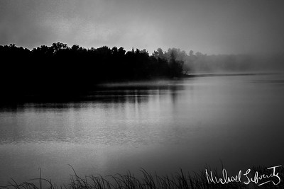 Sunrise on the river bw026