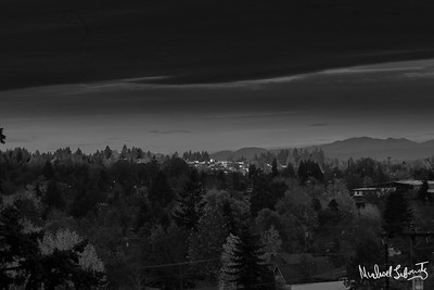 ridge line sunrise bw (1 of 1)