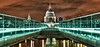 St. Paul's Cathedral over the Millenium Bridge - London