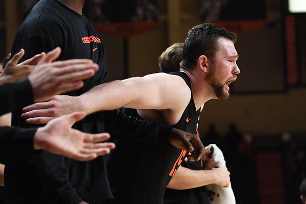Oregon state mens basketball vs  Carroll College 102319 Leon N623