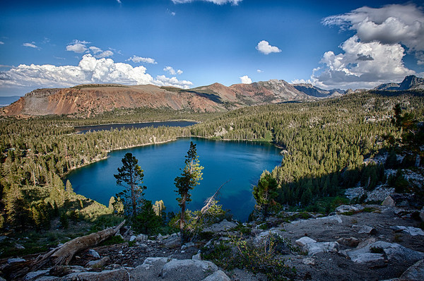 Mammoth Crest Trail view of Lake George, CA.