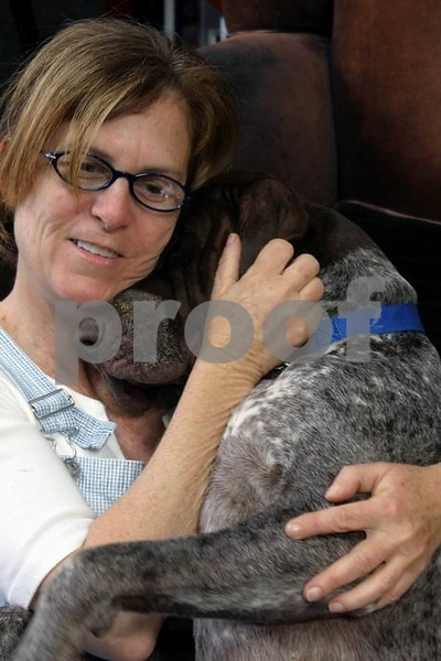 Friends a lady and her dog