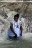 Jamacan Lady at Dunns River Falls