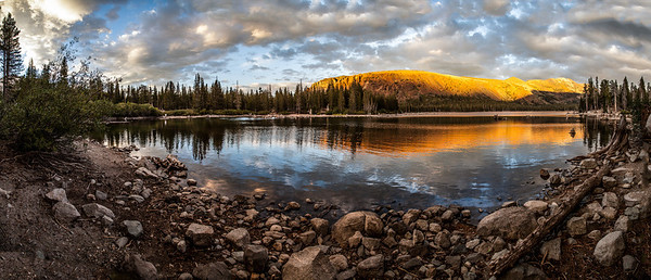 Pano of Lake Mary, Mammoth, CA.