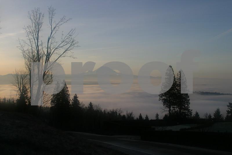 Mt Rainier winter sunrise