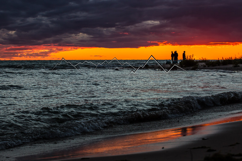 Watching the sunset on Lake Michigan