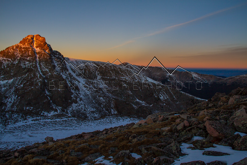 First Light on Mt of the Holy Cross from Notch Mtn
