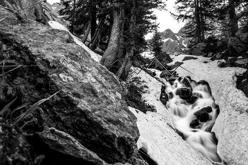 Falls on the approach to 13,220' Peak C, Gore Range, CO