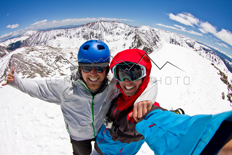 Mike Hood and the Photographer from the summit of Drift Peak, CO
