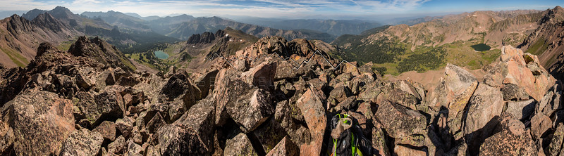 Panorama from the summit of Snow Peak, Gore Range, CO