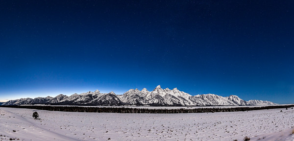 Teton Range, WY at Night
