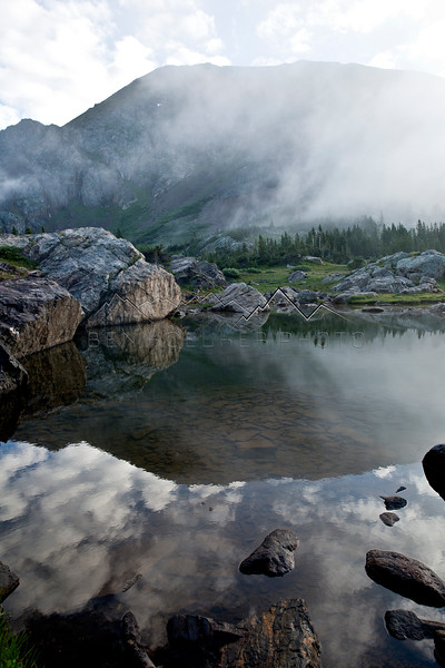 Reflection at dawn, Sawatch Range, CO