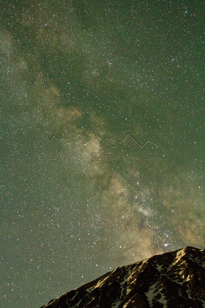The Milky Way above the edge of Northstar Mountain, CO