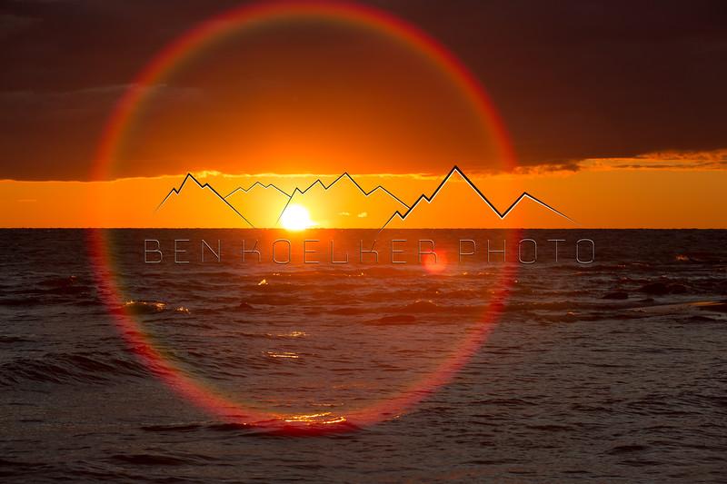 Sunset on Lake Michigan from Harbor Springs, MI
